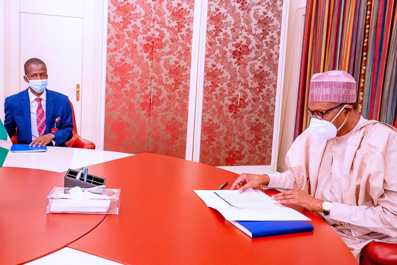 Buhari, Malami, EFCC Chairman Meet