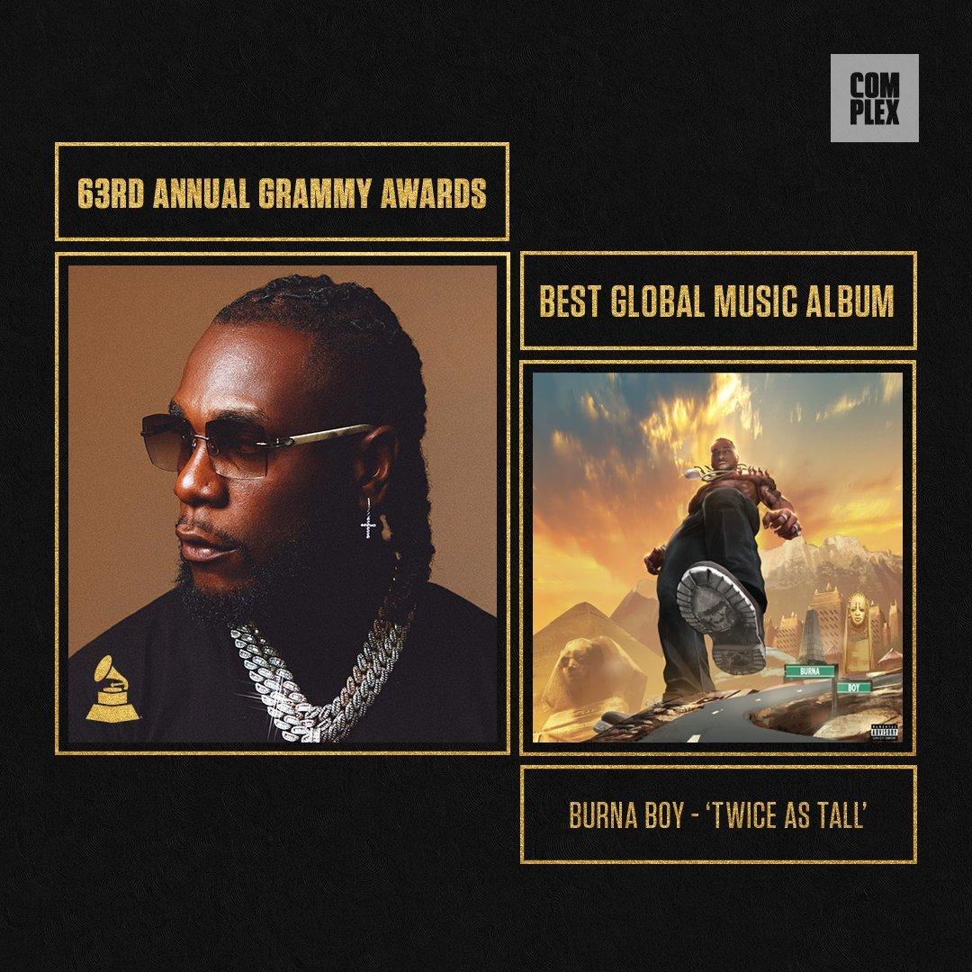 History As Burna Boy Becomes Nigeria's First Grammy Winner