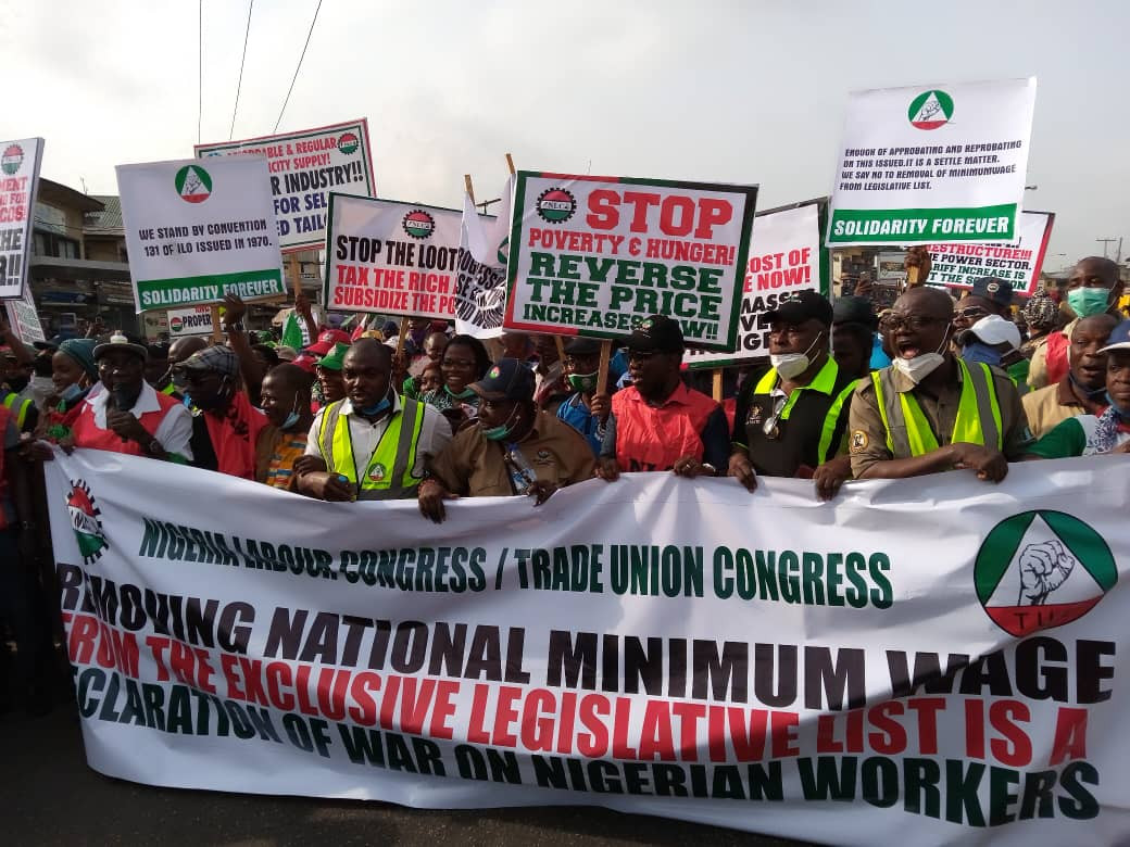 NLC Protests Against Removal Of Minimum Wage From Exclusive List
