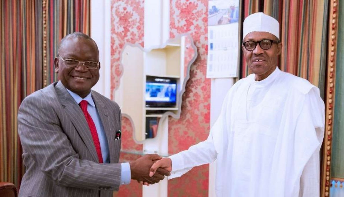 Ortom Visits Aso Rock, Commends Buhari For Condemning Attack