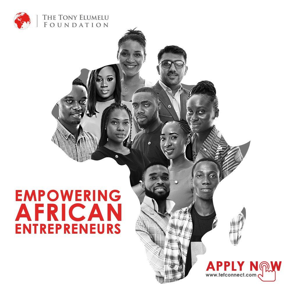Applications To Tony Elumelu Foundation Entrepreneurship Programme Closes March 31