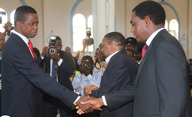 Defeated President Says Zambia First, Meets President-elect