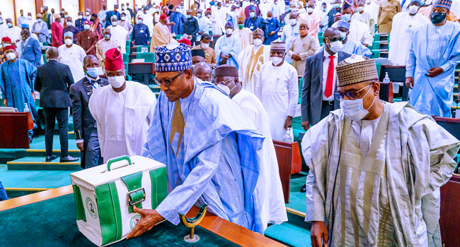 Buhari Presents N16.39tr Budget For 2022 To National Assembly
