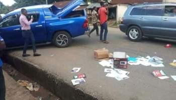 BREAKING: Gunmen Attack Obiano's Campaign Convoy